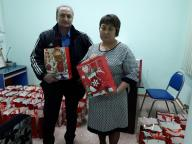 Providing charitable assistance on the eve of the New Year.