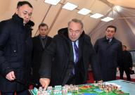 """Head of State familiarized with the progress of housing construction in the microdistrict """"Аэропорт"""""""