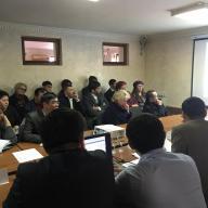 Совещание с участием заказчиков и генпроектировщиков по вопросу «Анализ результатов проведенной комплексной вневедомоственной экспертизы инвестиционных проектов, реализуемых в Южно-Казахстанской области и пути повышеняи их эффективности»