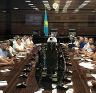 Совещание по обсуждению вопросов совершенствования экспертной деятельности проектов строительства в Туркестанской и Жамбылской областях и в г. Шымкент